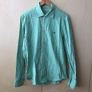 Burberry Brit dress shirt sz L green button down